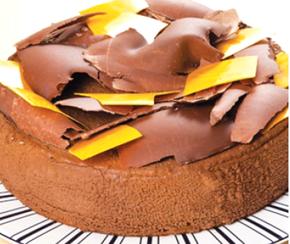 Torta de Chocolate com Pêssego
