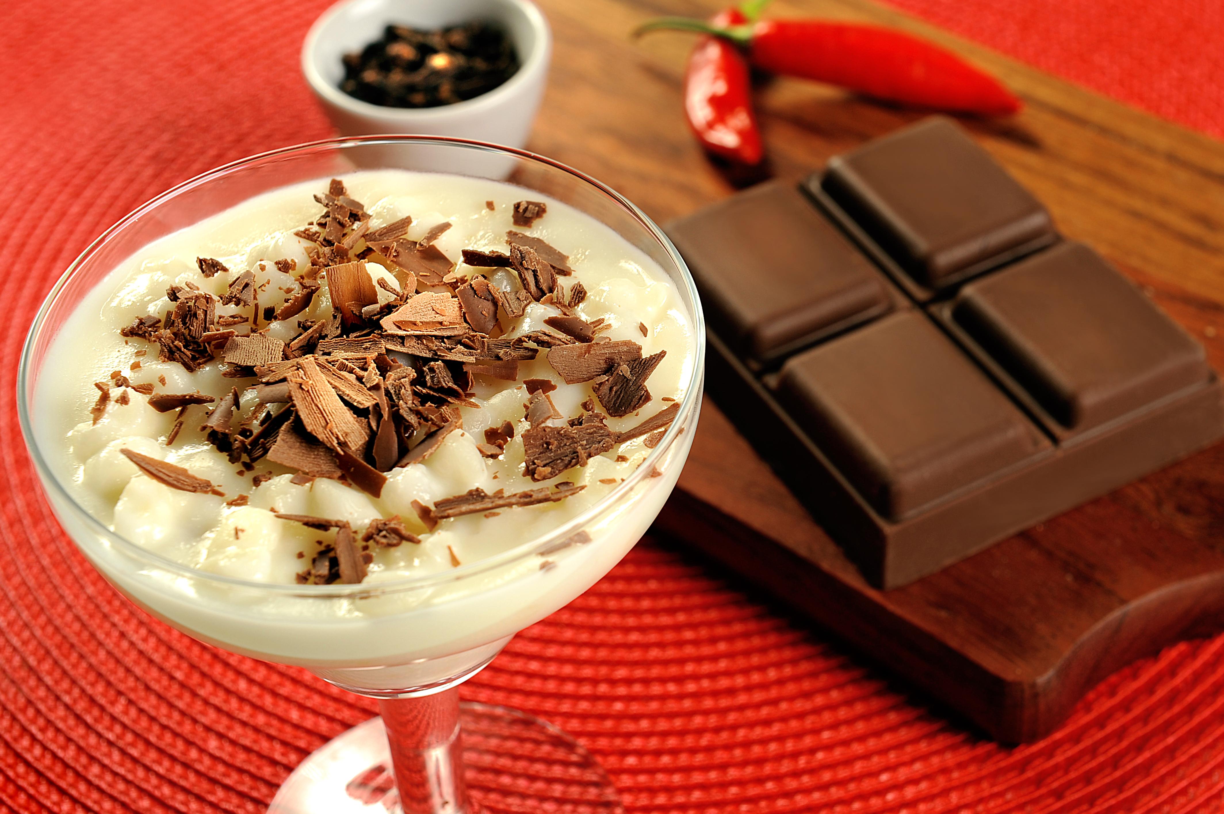 Canjica com Chocolate