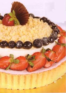 Entremet Sensations de Frutas Vermelhas e Limão Siciliano
