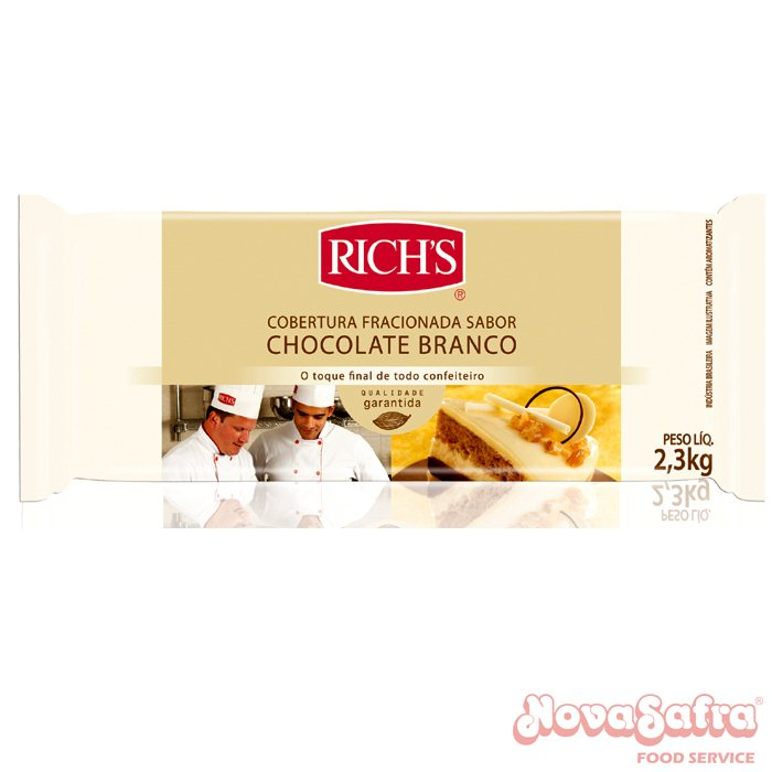 cobertura chocolate branco rich´s