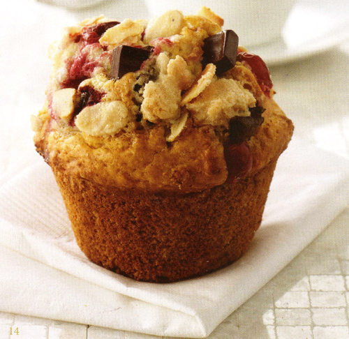 Muffin de Chocolate e Crumble de Amêndoas
