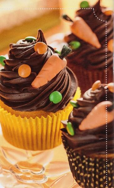 Cupcake de Cenoura com Recheio de Chocolate