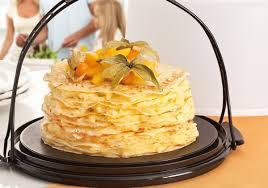 Crepe Cake de Frutas Amarelas