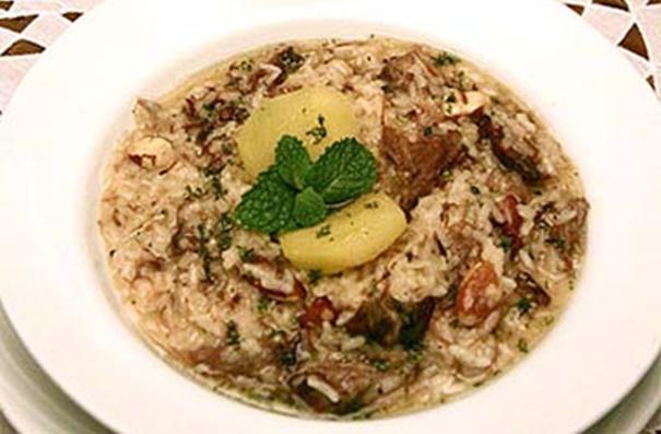 Risoto de Arroz e Cereais com Moela de Avestruz