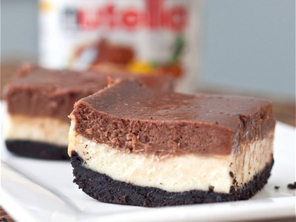 Cheesecake de Nutella e Oreo