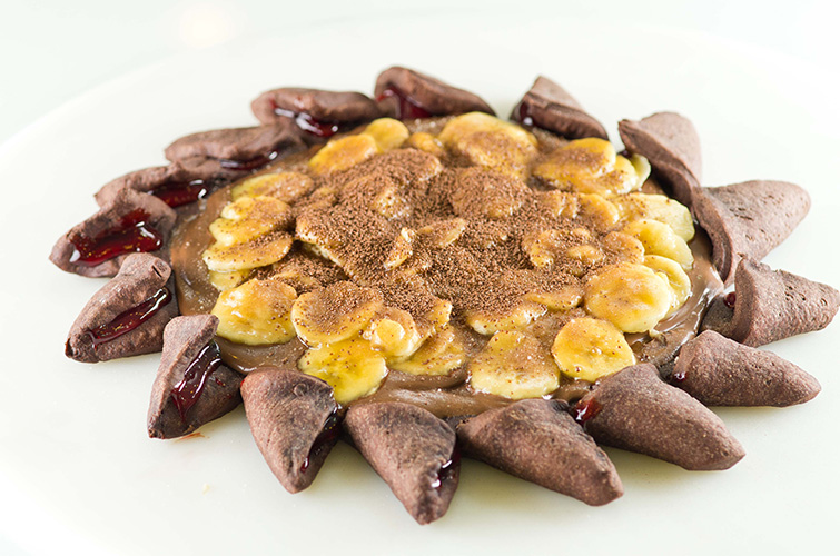 Pizza de Chocolate com Banana e Canela