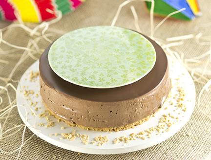 Torta Gelada com Creme de Chocolate e Avelã