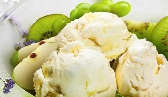 Gelato Gourmet Queijo Camembert com Frutas Verdes