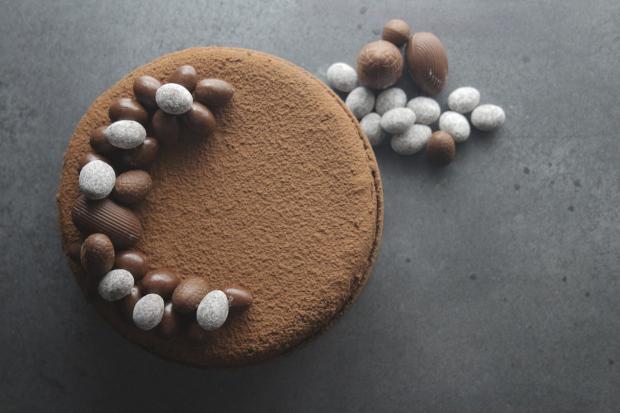 Cheesecake de Chocolate com Amêndoas