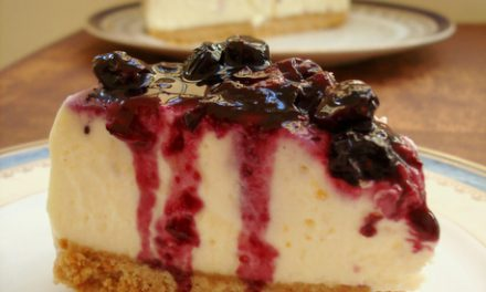 Cheesecake de Mascarpone e Mirtilos