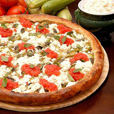 Pizza light com Ricota e Tomate