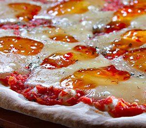 Pizza Doce de Geleia de Tangerina