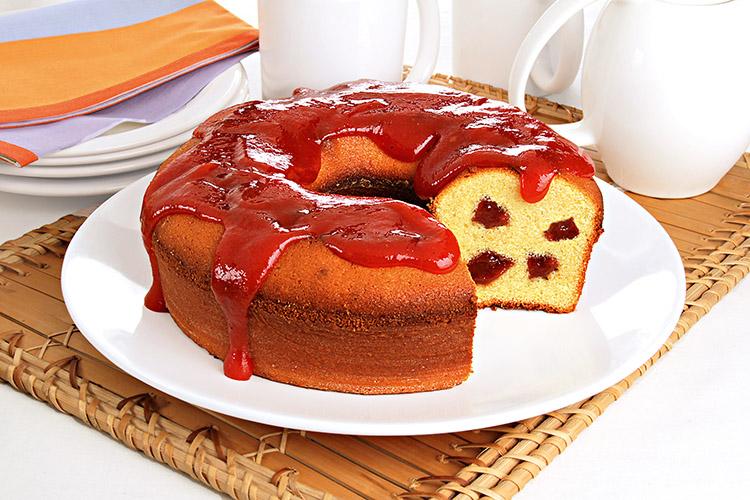 Cake Fubá com Goiabada