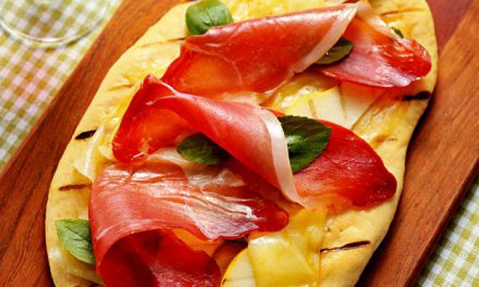 Pizza de Presunto Cru e Pera