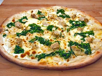 Pizza de Espinafre e Gorgonzola