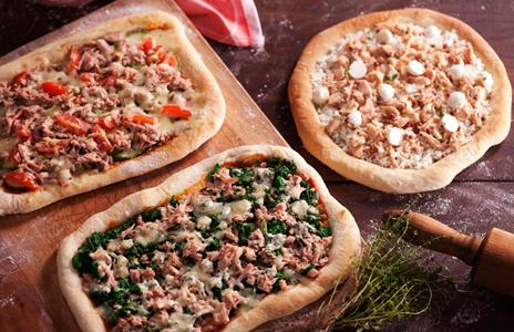 Pizza de Tomate Cereja e Abobrinha