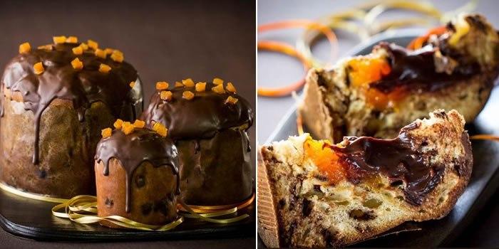 Chocotone Recheado com Trufa de Chocolate e Geleia de Damasco